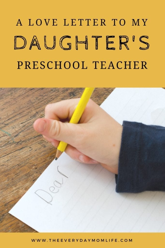 thank you letter for a teacher - The Everyday Mom Life