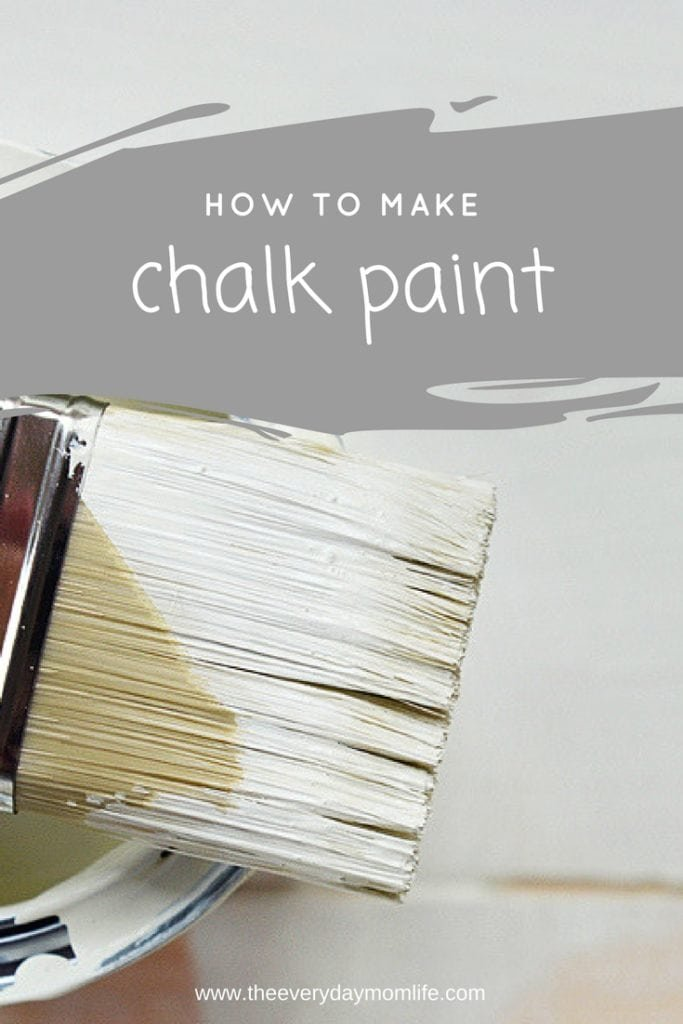 how to make chalk paint - The everyday mom life