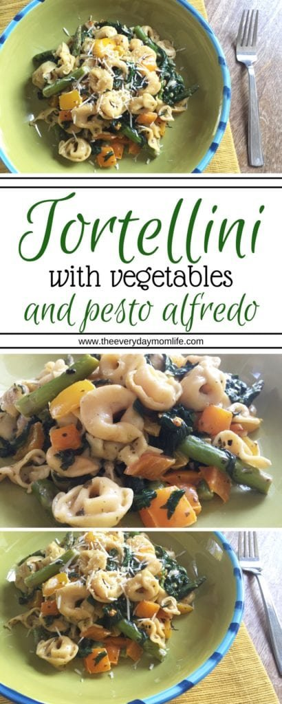 tortellini with vegetables - the everyday mom life