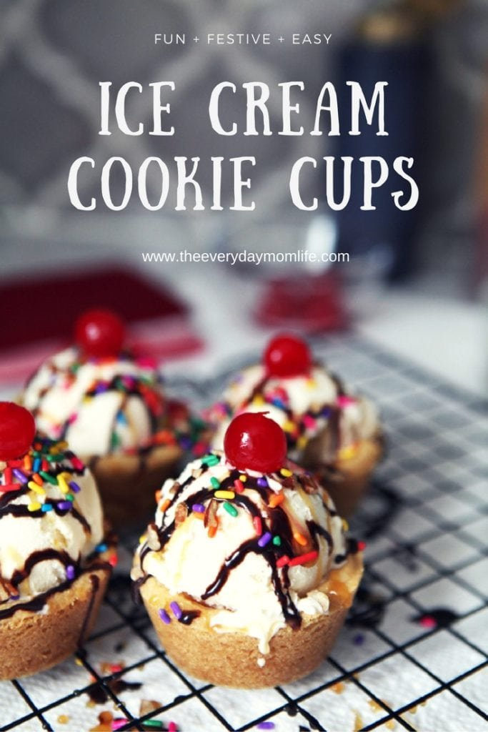 ice cream cookie cups - The Everyday Mom Life