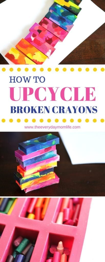 make new crayons from old crayons - The Everyday Mom Life
