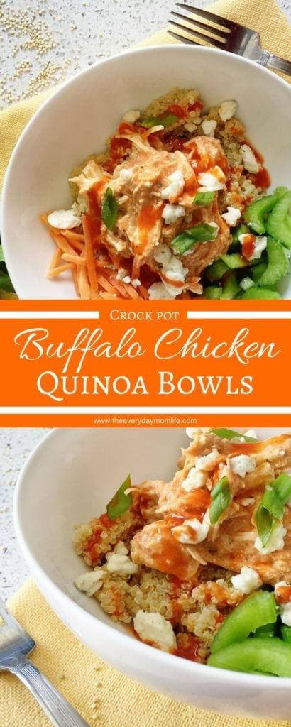 Buffalo Chicken Quinoa Bowls - The Everyday Mom Life