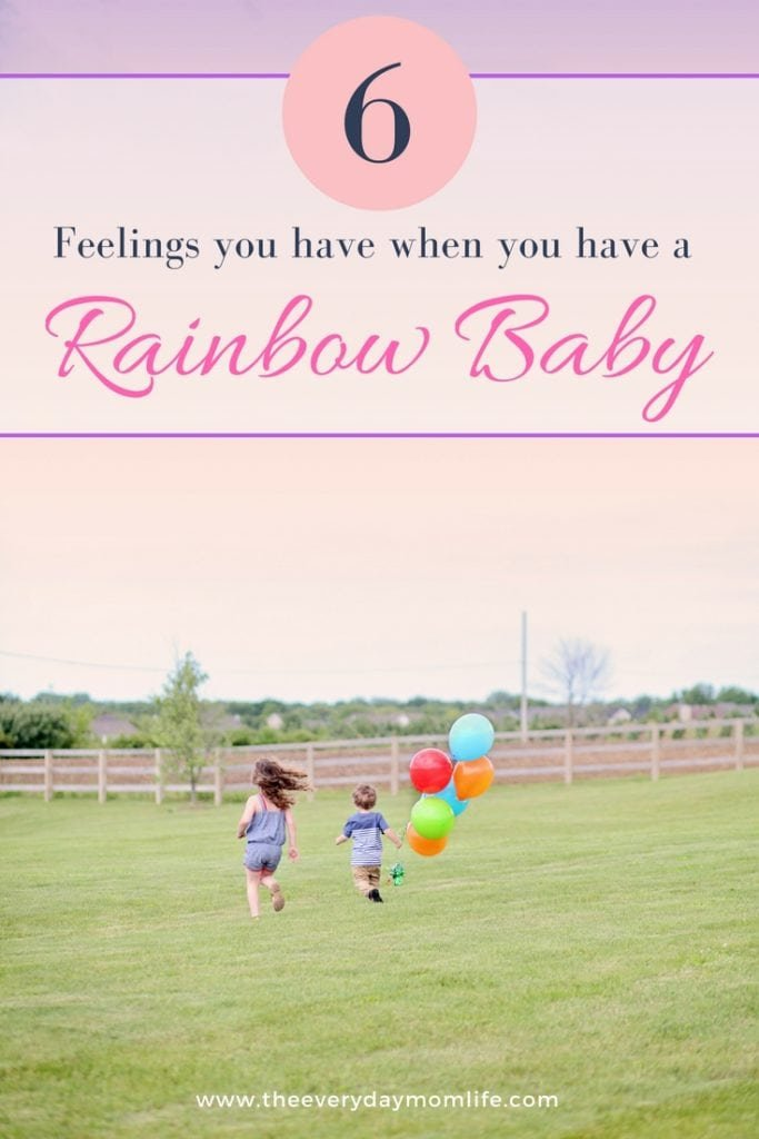feelings when you have a rainbow baby