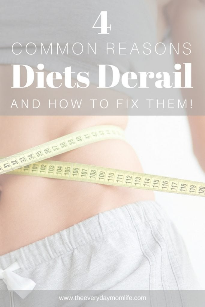 reasons diets derail - The Everyday Mom Life
