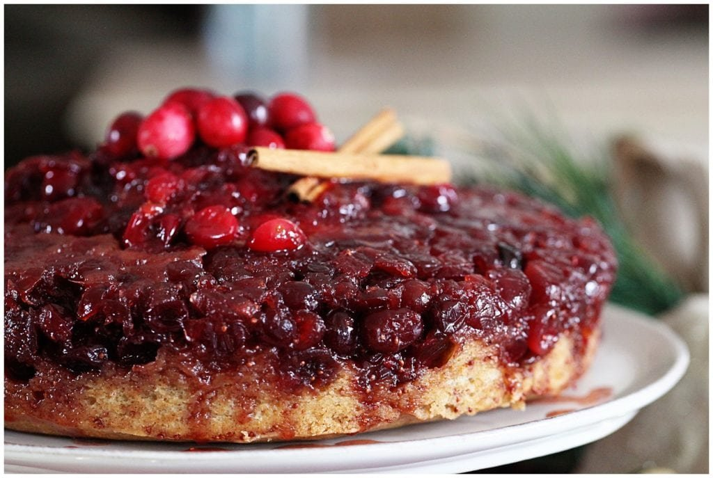 Cranberry Upside Down Cake - The Everyday Mom Life