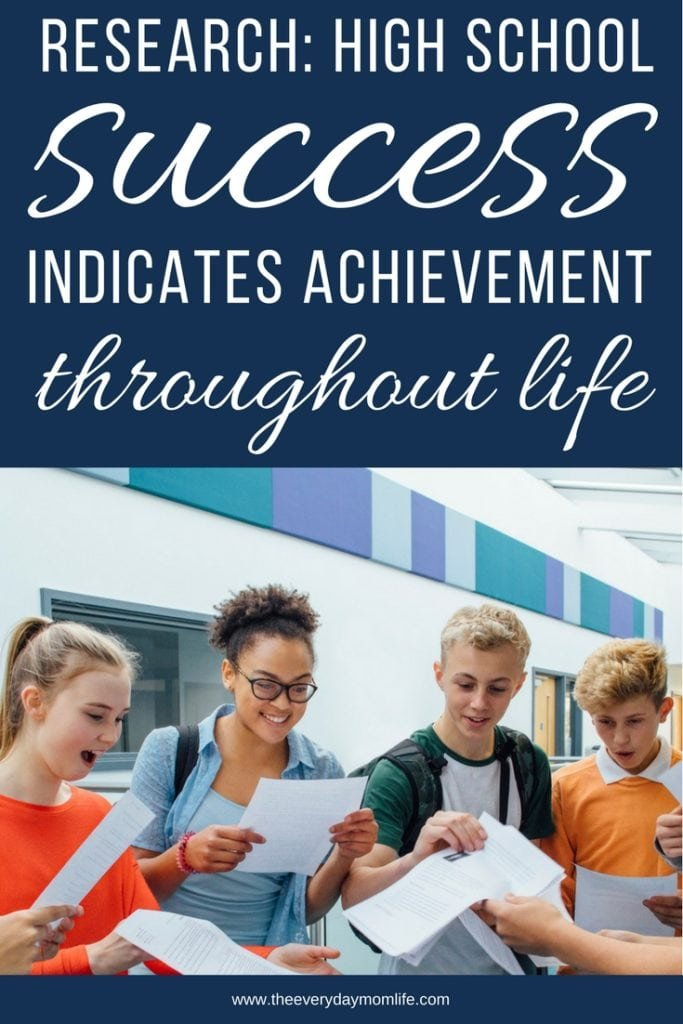 Research says high school success indicates - The everyday mom life