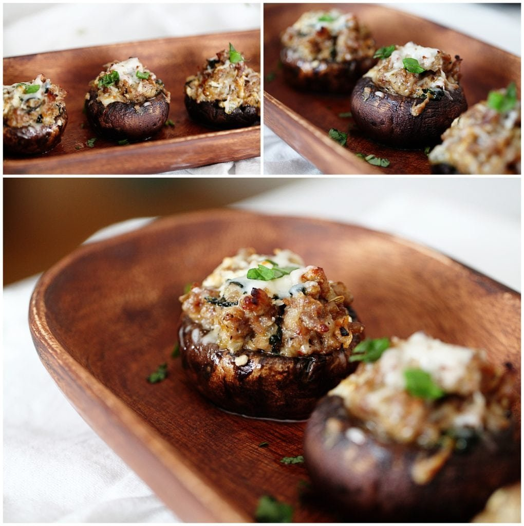 Three Cheese Sausage Stuffed Mushrooms - The Everyday Mom Life