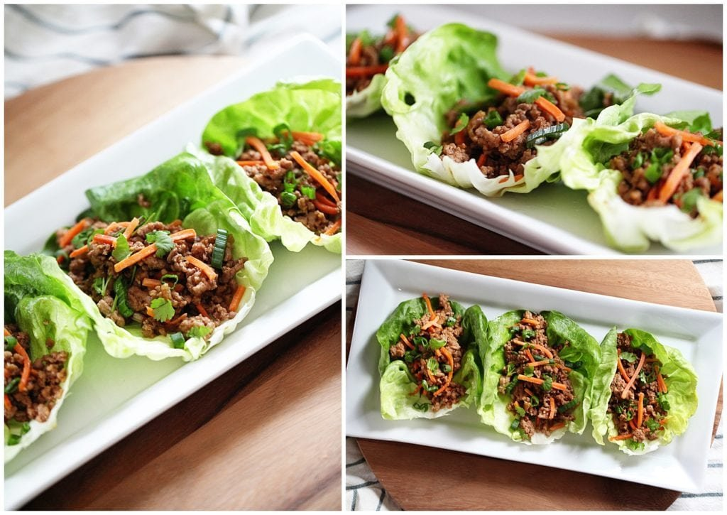 pork asian lettuce wraps - The Everyday Mom Life