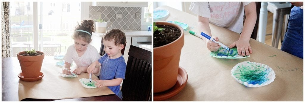 Planet earth coffee filter craft - The Everyday Mom Life