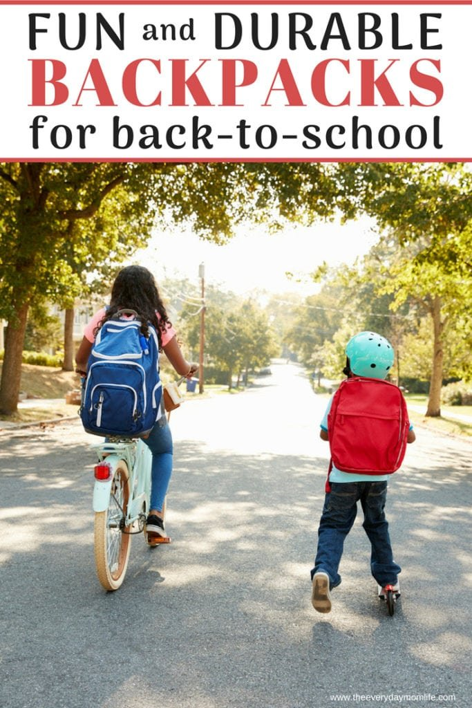 kids backpacks - The Everyday Mom Life