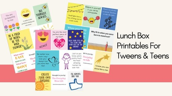 lunch box notes for kids - The Everyday Mom Life