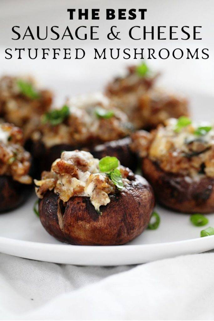 The best Sausage and Cheese Stuffed Mushrooms