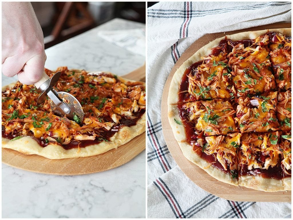 barbecue chicken pizza - The Everyday Mom Life
