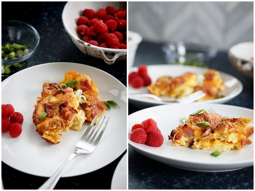 ham and cheese breakfast strata