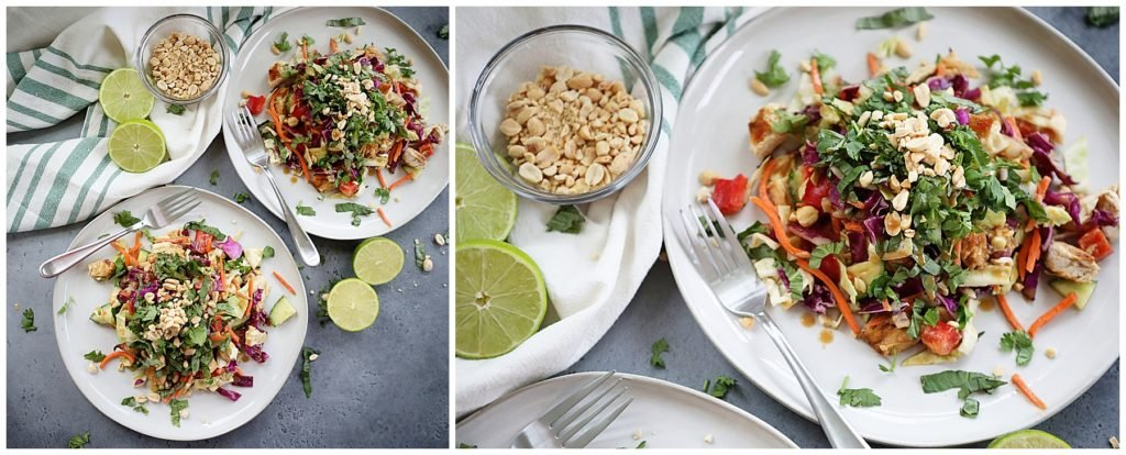 Delicious Thai Salad with Peanut Dressing