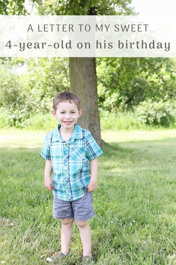 A Birthday Letter To My 4-Year-Old Son