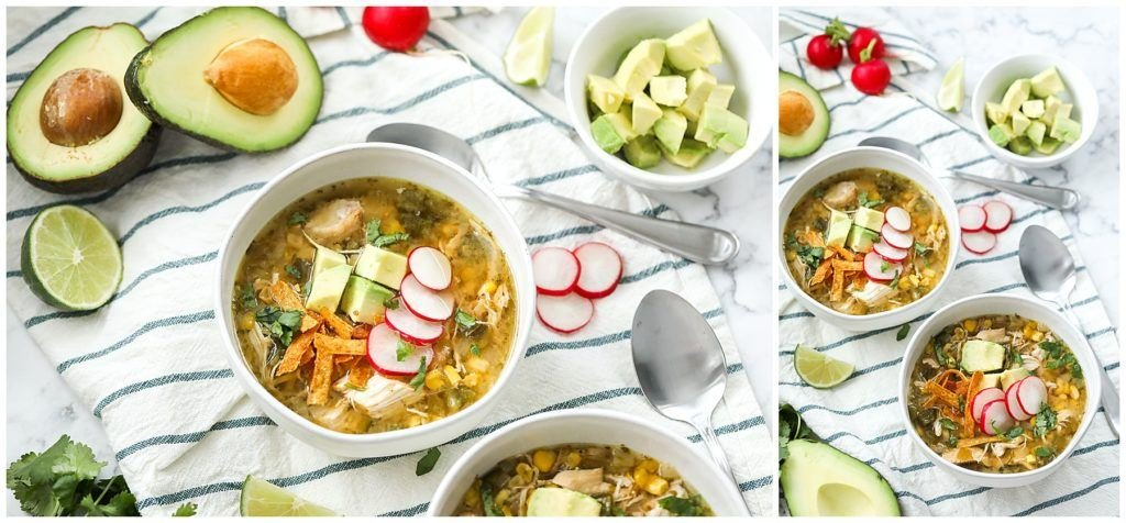 Insta Pot Chicken Pozole Soup