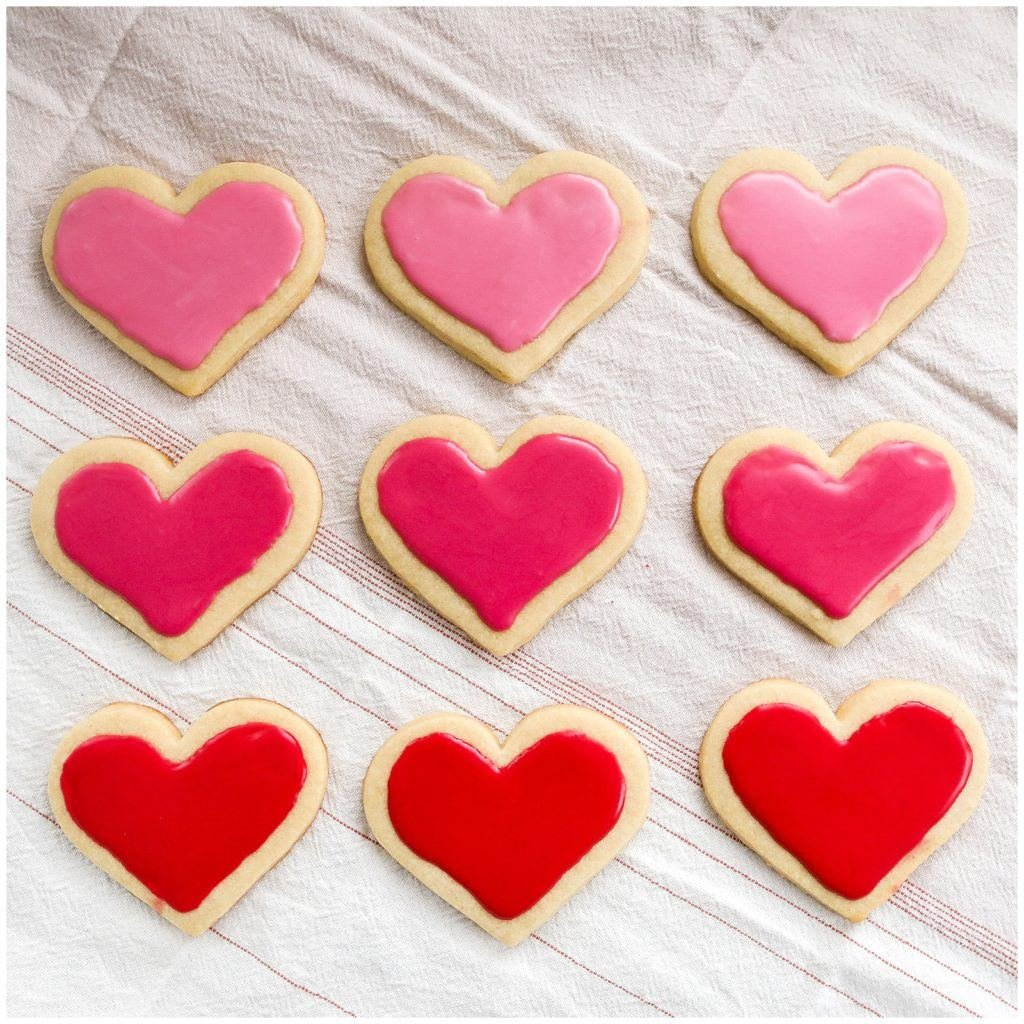 Ombre Heart Cut Out Sugar Cookies