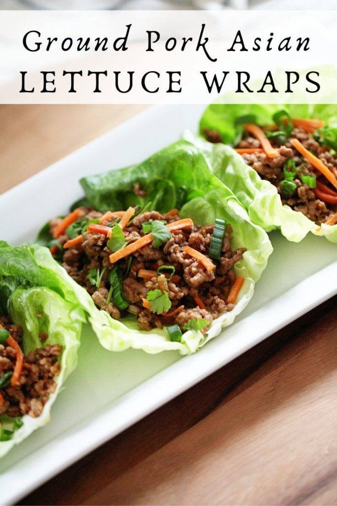 ground pork asian lettuce wraps