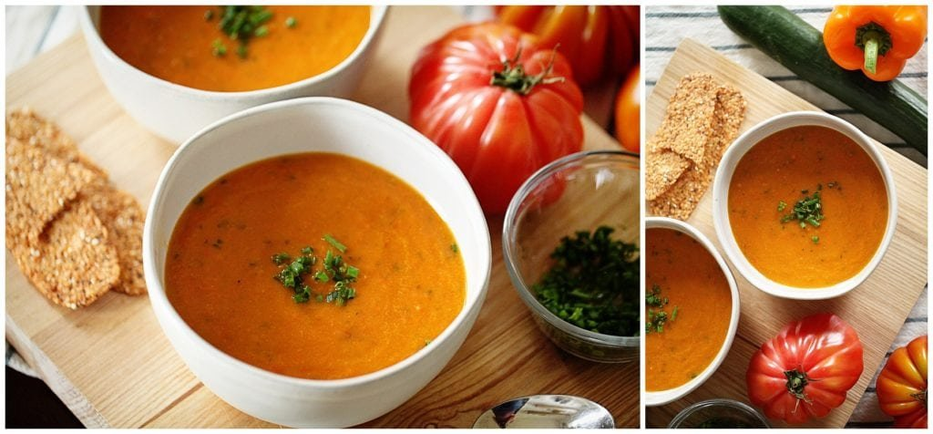 Easy Heirloom Tomato Gazpacho Recipe
